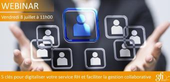 5 clés pour digitaliser votre service RH et faciliter la gestion collaborative