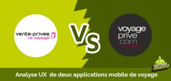 UX APP BATTLE ➡  Voyage Privé VS Vente Privée le voyage