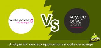 UX APP BATTLE ➡  Voyage Privé VS Vente Privée le voyage