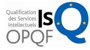 Recensement au Datadock et aux catalogues de références. La certification ISQ-OPQF labellisée par le CNEFOP.