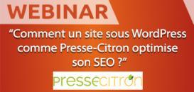 Webinar : comment un site sous WordPress, comme Presse-Citron, peut optimiser son SEO ?