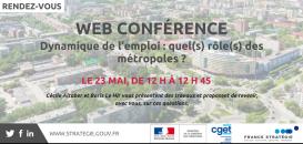 Webconférence - Dynamique de l'emploi : quel(s) rôle(s) des métropoles ?