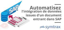 Automatisez l'intégration de données issues d'un document entrant dans SAP