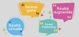 Animations de fin d'année: serious game, Réalité virtuelle et augmentée, street marketing...