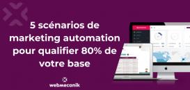 5 scénarios de marketing automation pour qualifier 80% de votre base.