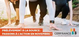 Prélèvement à la source : passons à l'action en novembre !