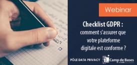 ✅ Checklist GDPR : comment s'assurer que votre plateforme digitale est conforme ?