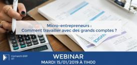 Micro-entrepreneurs : Comment travailler avec des grands-comptes ?