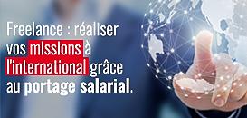 Freelance : réaliser vos missions à l'international grâce au portage salarial.