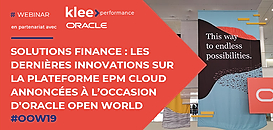 Solutions Finance: les dernières innovations sur la plateforme EPM Cloud annoncées à l'occasion d'Oracle Open World 2019