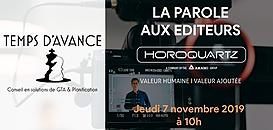 """GTA - """"La Parole aux Editeurs"""" : Horoquartz"""