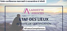Quel bilan pour l'activité de certification professionnelle de France Compétences ?