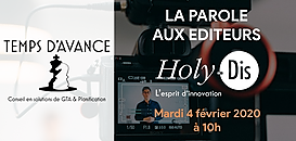 """GTA - """"La Parole aux Editeurs"""" : HOLY-DIS"""