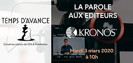 """GTA - """"La Parole aux Editeurs"""" : KRONOS"""