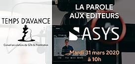 """GTA - """"La Parole aux Editeurs"""" : ASYS"""