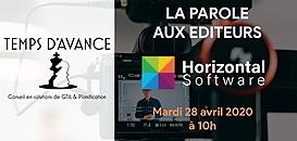 """GTA - """"La Parole aux Editeurs"""" : HORIZONTAL SOFTWARE"""