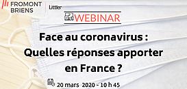 Face au coronavirus : quelles réponses apporter en France ? Eclairage avec la situation en Chine