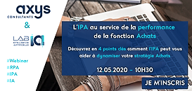 L'IPA (Intelligent Procurement Automation) au service de la performance de la fonction Achats