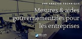 Covid-19 – Quelles conséquences financières pour les entreprises ? Quelles mesures gouvernementales de soutien ?