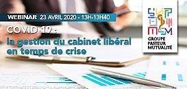 [WEBINAR] La Gestion du cabinet libéral en temps de crise :  impacts  fiscaux, sociaux  et financiers