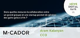 Dans quelles mesures la collaboration entre un grand groupe et une startup permet de générer des gains grâce à l'IA ?