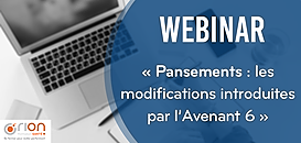 Pansements : les modifications introduites par l'avenant 6