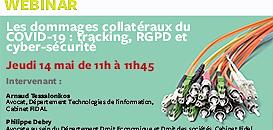 Les dommages collatéraux du COVID-19 : tracking, RGPD et cyber-sécurité
