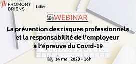 Prévention des risques professionnels et Responsabilité de l'employeur à l'épreuve du Covid 19