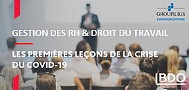Gestion des RH et droit du travail : les premières leçons de la crise du covid-19