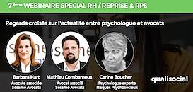Webinaire RH N°8 - Reprise et RPS : regards croisés sur l'actualité entre psychologue et avocats