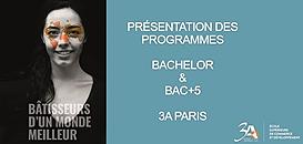 ECOLE 3A-Paris: Présentation des programmes Bachelor et Bac+4 / Bac+5