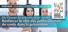 DU Chargé de prévention en santé : Renforcer le rôle des professionnels de santé dans la prévention