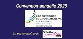 Convention annuelle de l'Observatoire de la Qualité de Vie au Travail
