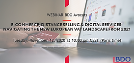 E-Commerce, Distance Selling & Digital Services: Navigating the New EU VAT Landscape from 2021!