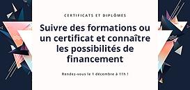 Suivre des formations ou un certificat et connaître les possibilités de financement