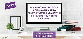 Une accélération de la digitalisation de la fonction juridique… mythe ou réalité pour cette année 2020 ?