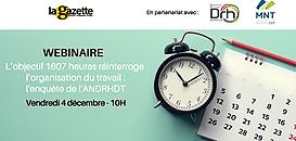 L'objectif 1607 heures réinterroge l'organisation du travail : l'enquête de l'ANDRHDT
