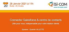 Connecter Salesforce & votre centre de contacts : utile pour vous, indispensable pour votre relation client !