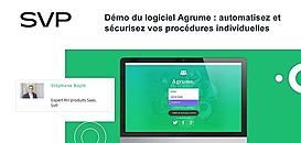 Démo du logiciel Agrume : automatisez et sécurisez vos procédures individuelles