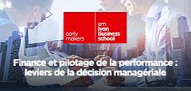 Finance et pilotage de la performance : leviers de la décision managériale