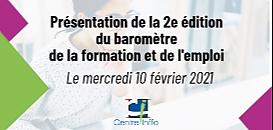 Centre Inffo présente la 2ème édition du Baromètre de la formation et de l'emploi
