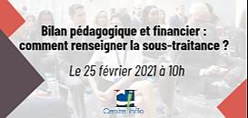 Centre Inffo - Bilan pédagogique et financier : comment renseigner la sous-traitance ?