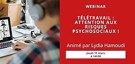 Télétravail : attention aux risques psychosociaux !