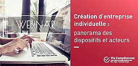 Création d'entreprise individuelle : panorama des dispositifs et des acteurs