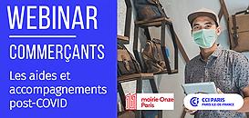 Commerçants : les aides et accompagnements post-COVID | Paris 11e