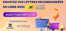 Envoyez vos lettres recommandées en ligne avec La Poste