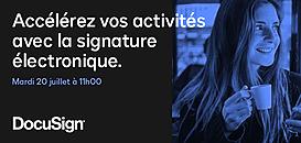 Accélérez vos activités avec la signature électronique