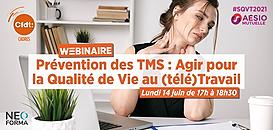 Prévention des TMS : Agir pour la Qualité de Vie au (télé)Travail · Webinaire CFDT Cadres