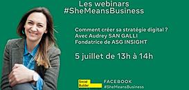 Les webinars #SheMeansBusiness : Comment créer sa stratégie digitale ?