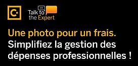 Une photo pour un frais. Simplifiez la gestion de vos dépenses professionnelles.
